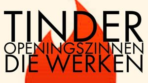 Tinder logo voor de openignszinnen artikel